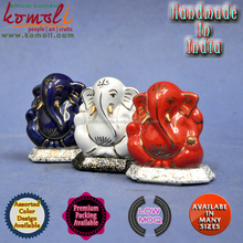 Goldline Ceramic Ganesha - Ceramic Ganesha Many Color - ganesh idol, lord ganesha statue, indian wedding return gift product