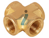 4 way air fuel 1/8 NPT CROSS female brass pipe fitting