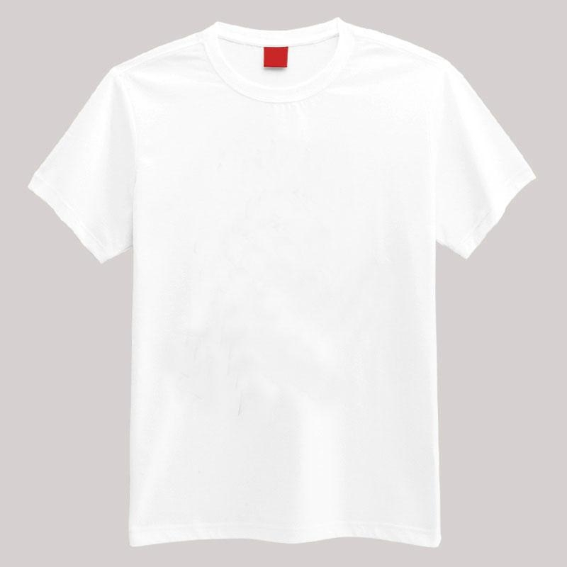 120 140 GSM cotton Cheap Plain White Round Neck T-Shirt Ready for screen printing Ready Stock & Manufacturing