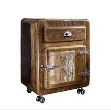 Industrial Reclaimed Bedside Cabinet