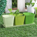 Powder Coated Hammered Metal Planters Set of 4pcs