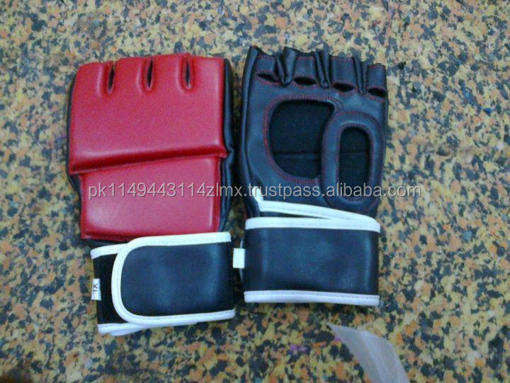 Professional High Quality MMA Gloves Genuine Cow-hide leather ring gloves / Red MMA Wholesale Best Quality leather gloves kick b