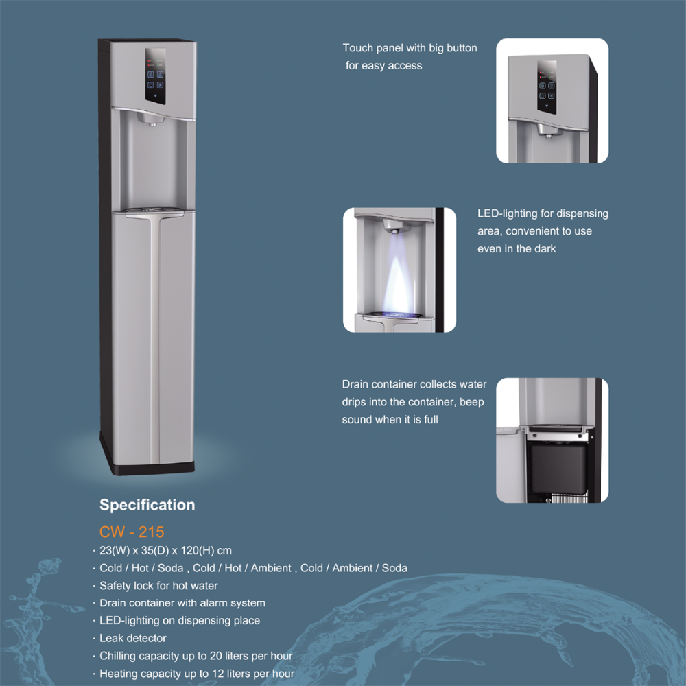 Counter Top Water Cooler for RO Purifier System