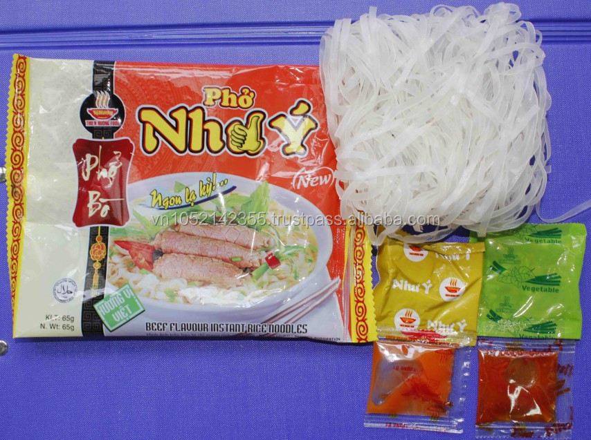 NHU Y BEEF FLAVOUR INSTANT RICE NOODLES 65GR X 30 PACKETS/CARTON