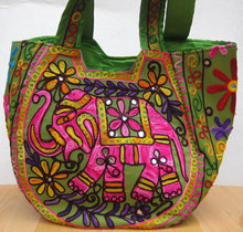 HANDICRAFTS BANJARA TRADITIONAL INDIAN ETHNIC EMBROIDERY DESIGNER GYPSY HOBO TOTE BAG