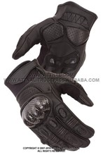 Sports Glove Featuring Hard Knuckles, Padded Fingers and Palm, Double Ply Suede Grip Panels and Adjustable Wrist Strap