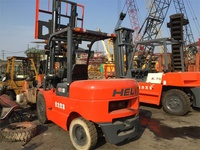 Original From China 5 Ton CPCD50 Used Heli Forklift With Triple Mast