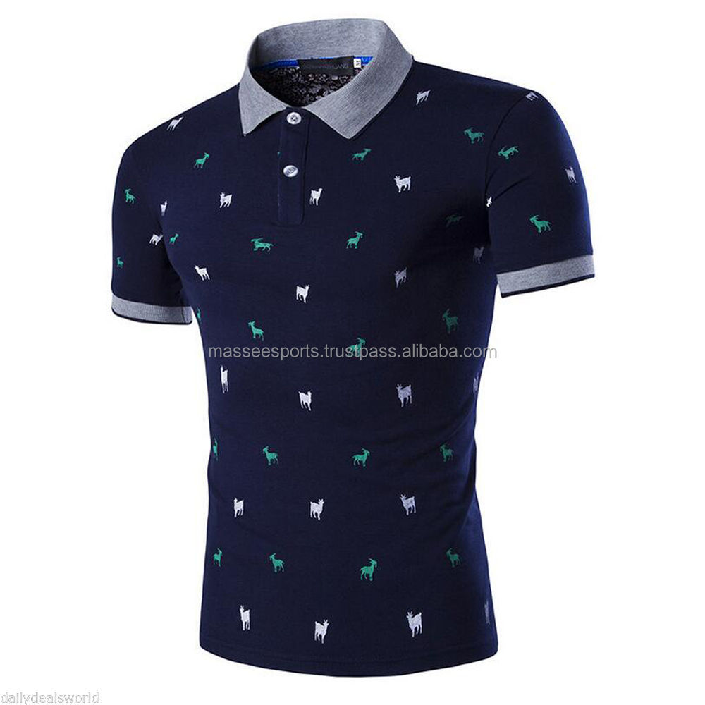 Custom Printed Latest Desgin Polo t shirt
