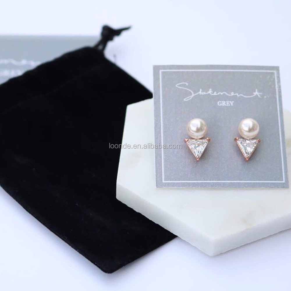 Promotional small black velvet gift pouch for packing travel accessory