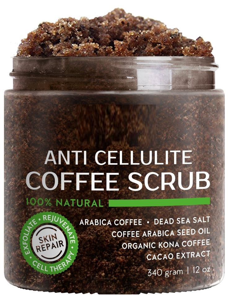 Naturals Organic Arabica Coffee Scrub The Most Powerful Remedy for Varicose Veins, Cellulite, Stretch Marks, Eczema & Acne - Dee