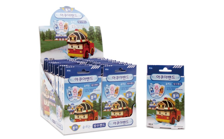 [Waterproof] Cartoon Band aid / Adhesive Bandage / Plaster / Robocar Poli (Roy) / Korean Cartoon Character