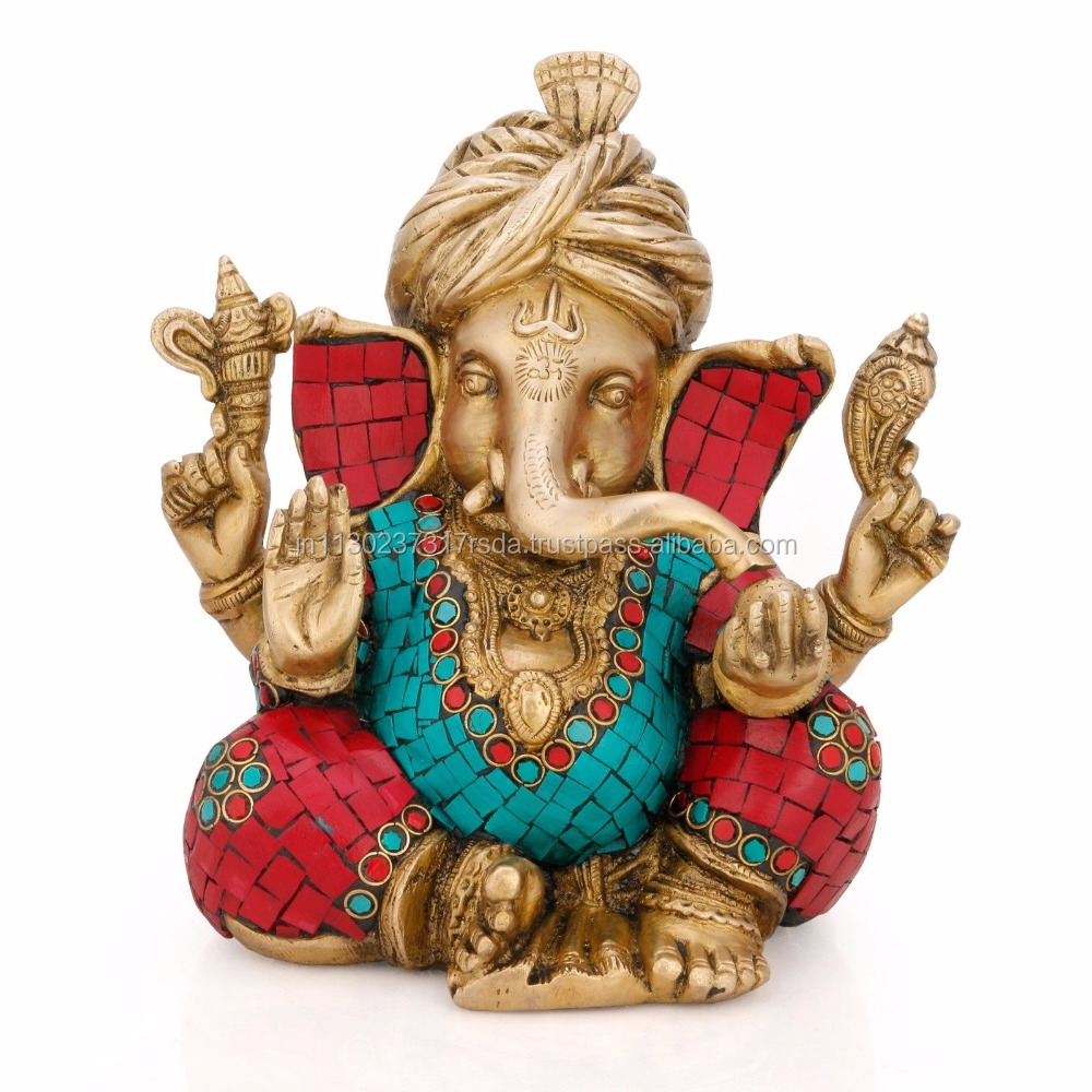 Large Ganesha statue - Brass Indian Handicrafts