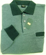 Wool polo sweaters for men