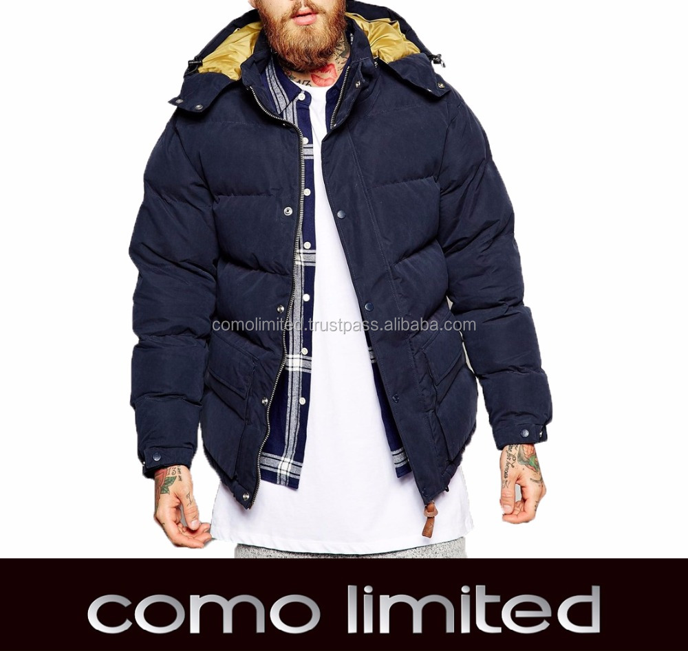 Mid-Weight Nylon Padded Winter Jacket For Man