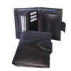 Excellent Quality Low Price Men Long Trifold Snap Closure Wallet