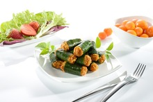 Famous thai authentic best selling herbs dish meal Pandan Chicken
