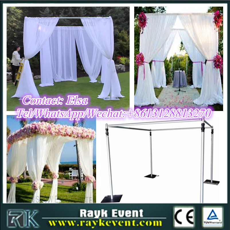 New products wedding pipe and drape background wedding party tent design pipe and drape for sale