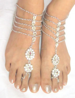 SILVER CHAIN PAYAL foot cover Anklets pair BAREFOOT SANDAL