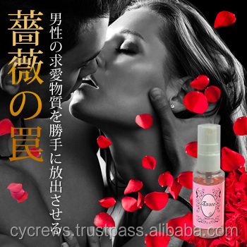 White rose aroma fragrance for women. Pheromone body mist vunlerable TABOO