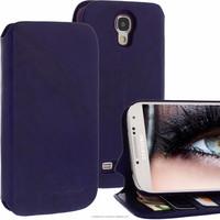 Geniune Leather Lucca Bookstyle case for Samsung Galaxy S4 SIIII i9500 i9505 Washed Purple Cow Leather