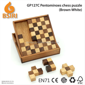 Pentominoes Wooden Brain Teaser Puzzle