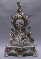 Allegory of the Four Seasons - Porcelain Clock, 1890 Germany, Volkstedt