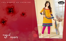 wholesale designer printed cotton salwar kameez with palazzo pants