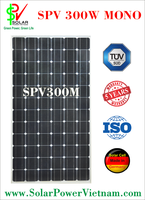 SPV 300w Monocrystalline Solar Panel with AR Coating glass, certificated by TUV