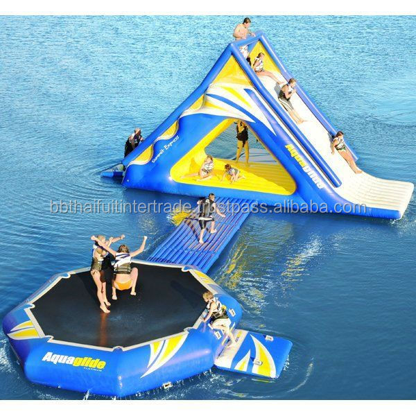 Floating Water Slide - So Fun!! (In Thailand)