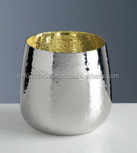 Silver tumbler with inside gold plated