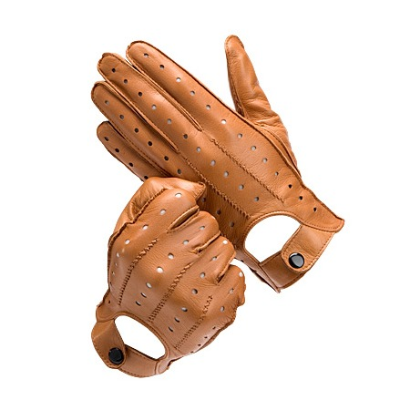 Wholesale Top fashion brown leather driving gloves for men's