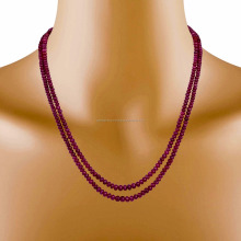 Radiant graduated Natural Precious Ruby Stone Beads Necklaces