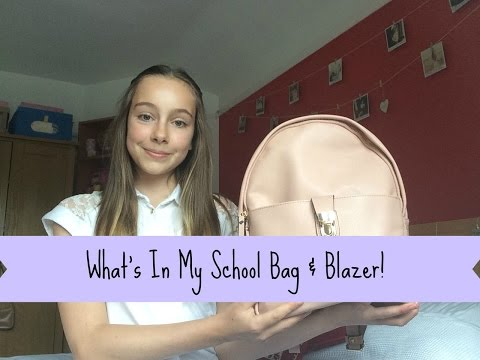 What's in My School Bag & Blazer | Lilac Lucy
