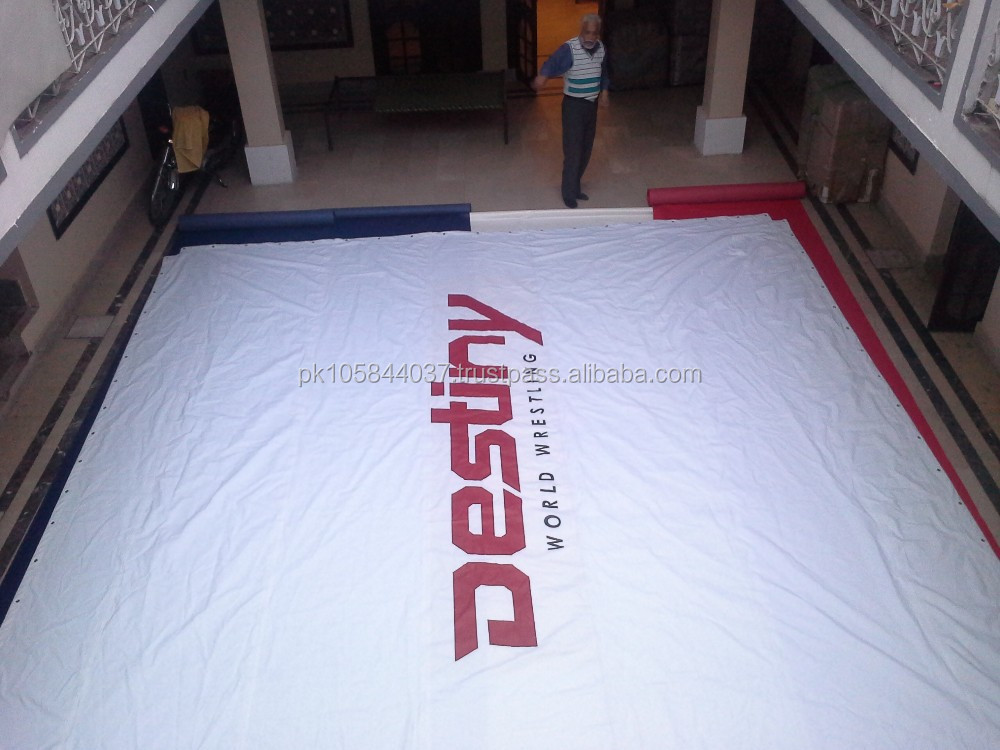 boxing white canvas mat wrestling mat custom logo printing martial arts MMA sports