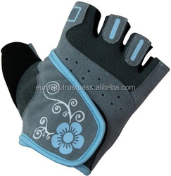 Leather Weight Lifting Gloves Wrist Support Double Velcro