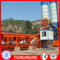 High efficiency HZS60 stationary concrete batching plant