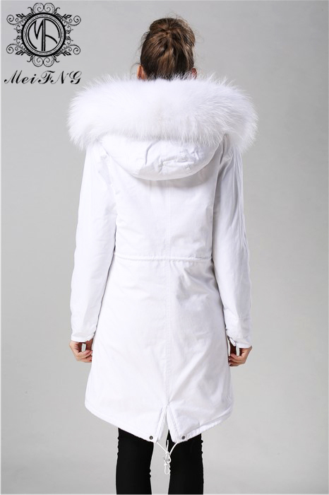 2017 Wholesale women fur coat white lining faux fur coat from china coat supplier