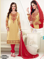 Latest Brasso Dress Material | Ladies Salwar Suit Design