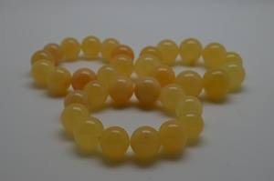 natural amber bracelet ( HEATED )