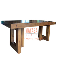 Elegant Solid Wood Table from Live Edge Wood Color Finishing
