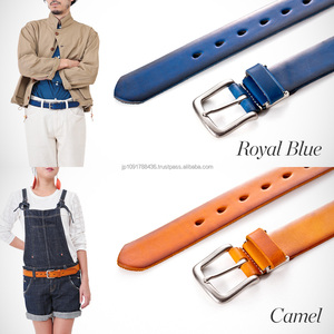 Fashion Men Fashion Women Genuine Leather Belt Full Grain Pure leather belt made in Japan