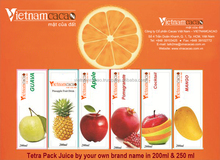 Tetra Pack Juice Private Label Wholesale price - Viber/Whatsapp: 0084905209103