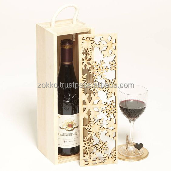 Wooden wine bottles boxes, Christmas gift package, plywood, MDF veneer, customer production is available