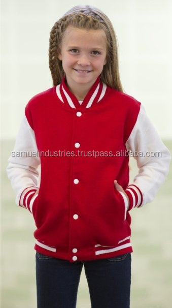 Football Club Style Youths Kids\baby\children\young boys\girls\Teen ager Football\baseball\softball\handball\wool Varsity Jacket