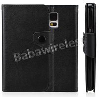 Stylish Wallet Leather Case With Card Holder For Galaxy S5