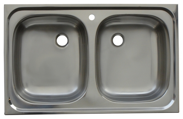 Double Bowl No Drainer Stainless Steel Kitchen Sink Model K850