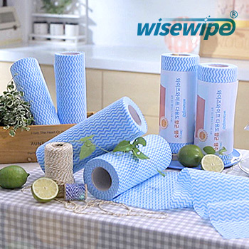 Best selling product/dishcloth/scouring pad rolls/NON- fluorescence brightening agent/table cloth/Rayon/antibacterial/wisewipe