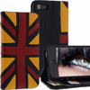 Geniune Leather Lucca Flag Bookstyle case for iPhone 5S / 5 Black Red Yellow Cow Leather