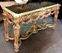Rococo style carved console table