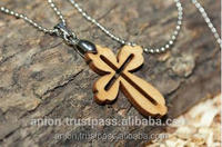 High Quality Exquisite Olive Wood Cross Worn Next to Skin